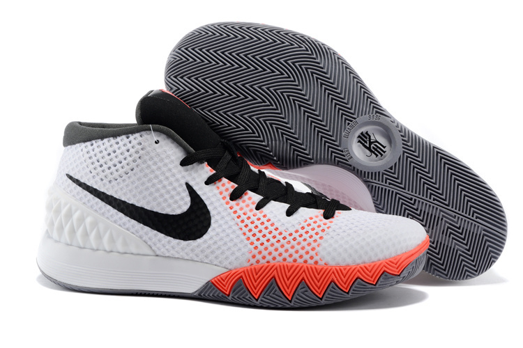 Women Nike Kyrie 1 White Black Pink Basketball Shoes