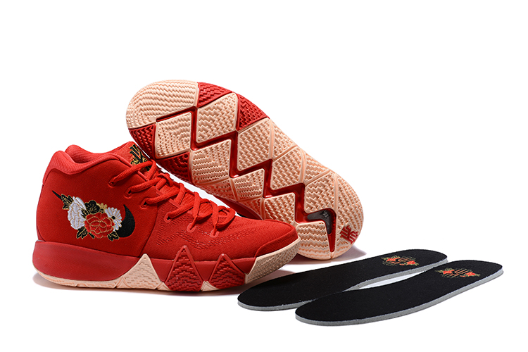 Women Nike Kyrie 4 Chinese Red Shoes