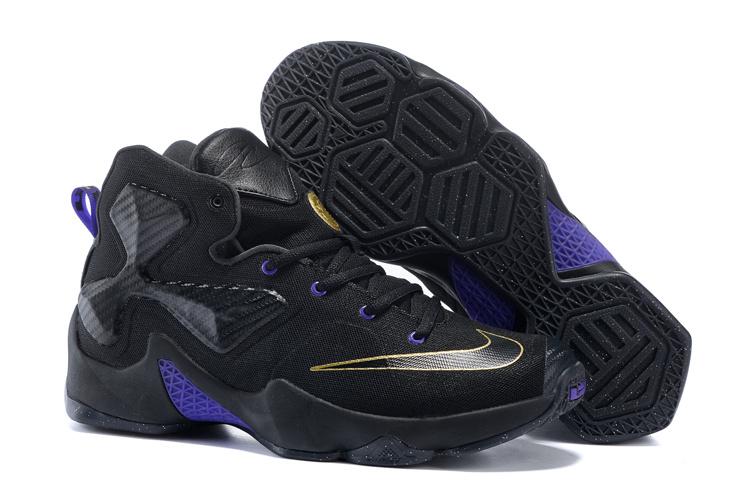 Women Nike Lebron James 13 BHM Black Blue Shoes