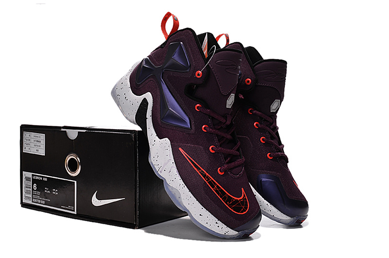 Women Nike Lebron James 13 Wine Red Purple Shoes