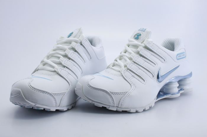 Women Nike Shox NZ All White Shoes