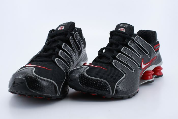 Women Nike Shox NZ Black Dark Red Shoes
