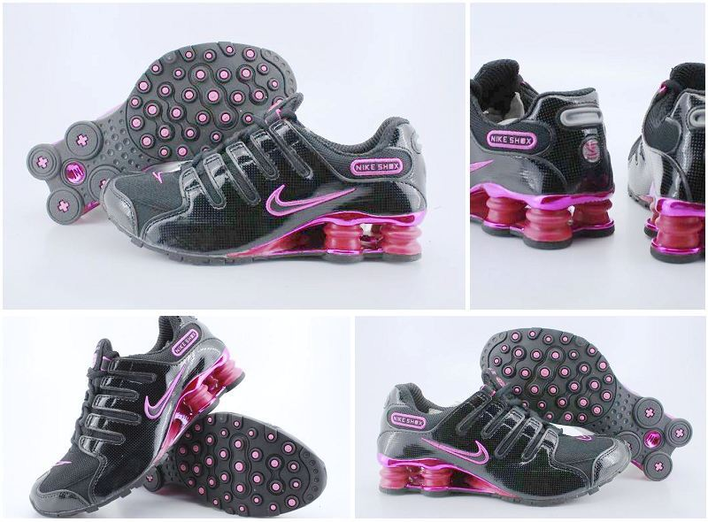Women Nike Shox NZ Black Peach Red Shoes