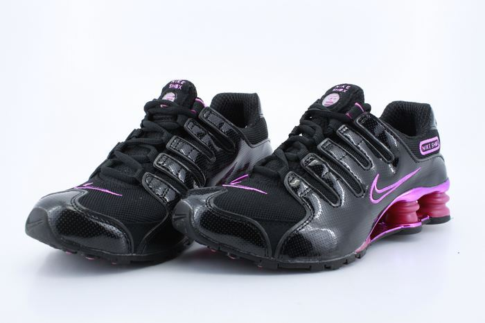 Women Nike Shox NZ Black Red Shoes