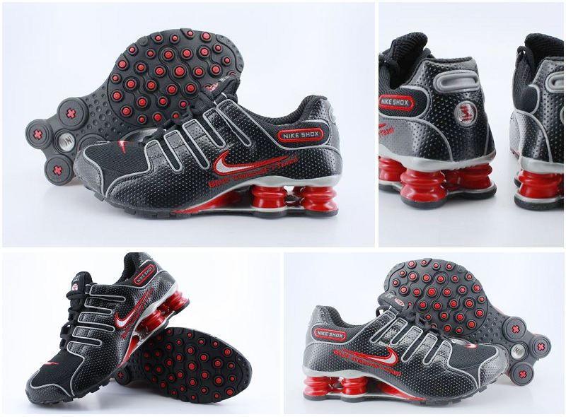 Women Nike Shox NZ Dark Black Red Shoes