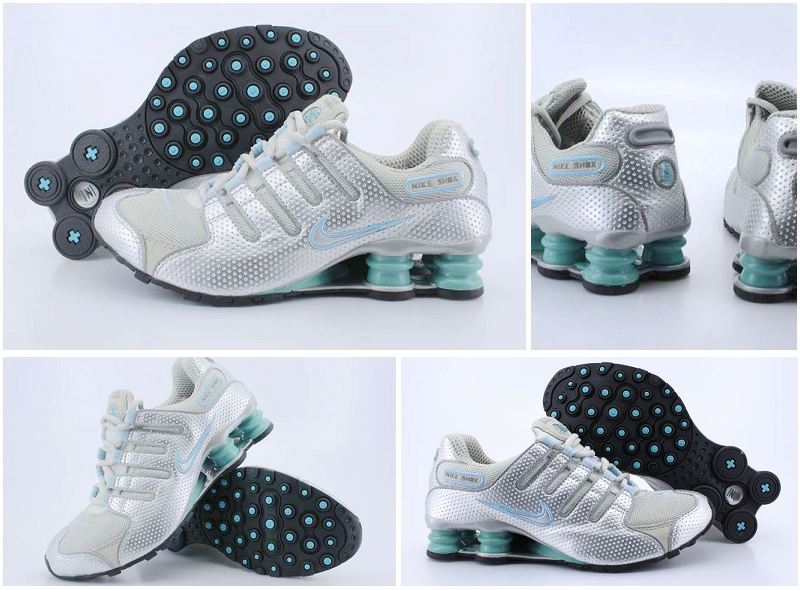 Women Nike Shox NZ Grey Silver Green Shoes