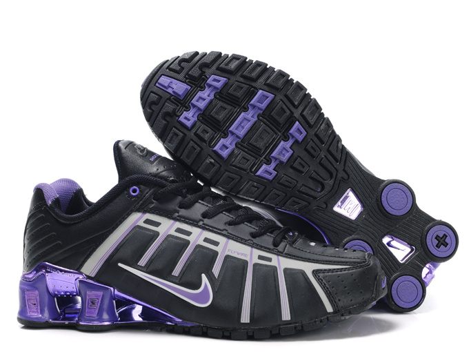 Women Nike Shox NZ III Black Grey Purple Shoes