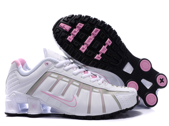 Women Nike Shox NZ III White Pink Shoes