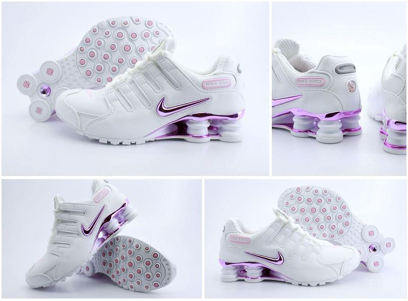 differently c0b32 f8e78 ... Nike Shox NZ Womens White Silver Pink ...