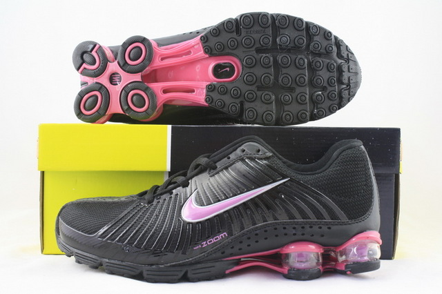 Women Nike Shox R1 Black Red Shoes