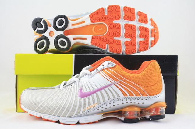 Women Nike Shox R1 Grey Orange Purple Shoes