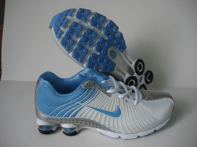 Women Nike Shox R1 White Blue Grey Shoes