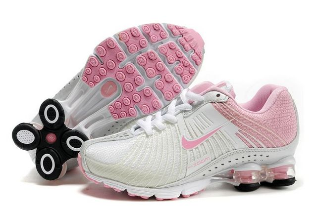 Women Nike Shox R1 White Pink Shoes