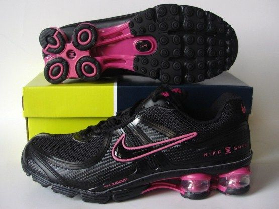 Women Nike Shox R2 Black Red Shoes