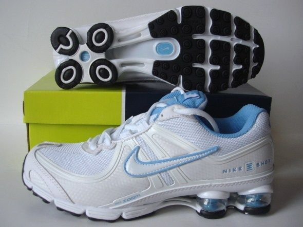 Women Nike Shox R2 White Baby Blue Shoes