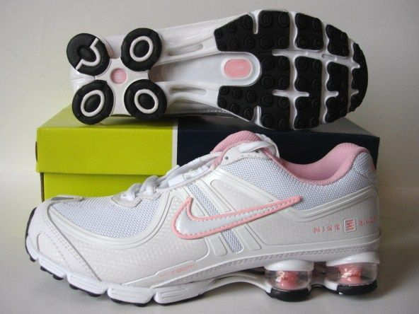 Women Nike Shox R2 White Pink Shoes
