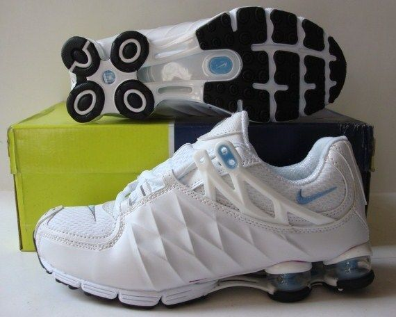 Women Nike Shox R3 White Blue Shoes