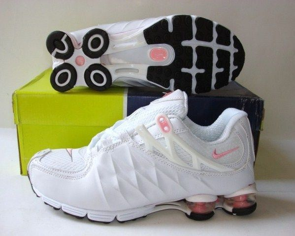 Women Nike Shox R3 White Pink Shoes