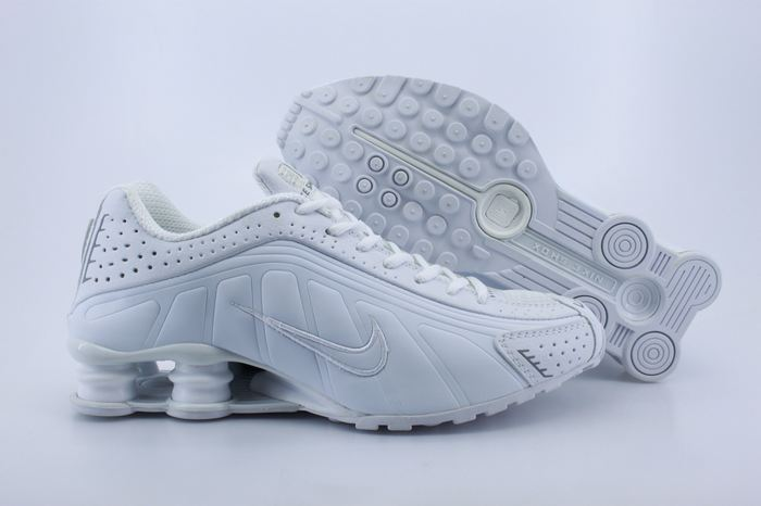 Women Nike Shox R4 All White Footwear