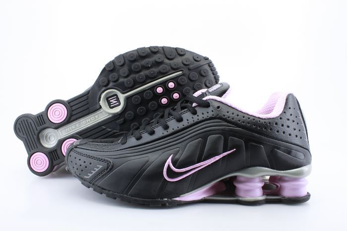 Women Nike Shox R4 Black Pink Footwear