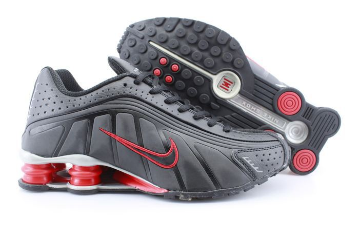 Women Nike Shox R4 Black Red Footwear