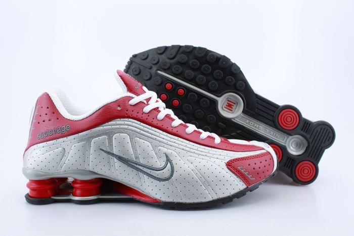 Women Nike Shox R4 Red White Footwear
