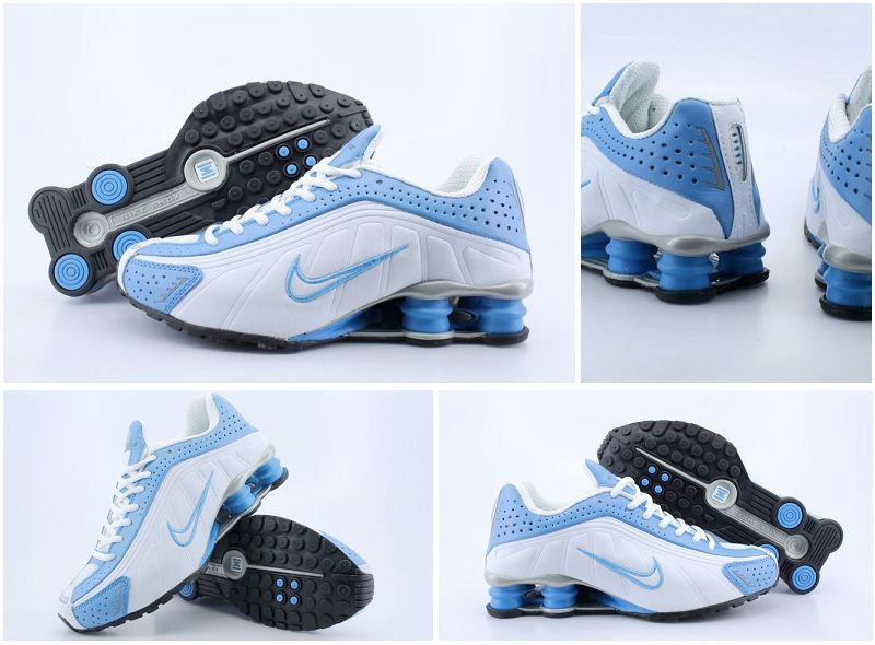 Women Nike Shox Turb White Blue Shoes