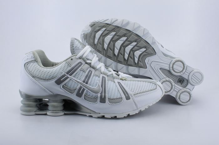 cd0978e2c6ce women nike shox white and grey Mens Nike Shox Avenue 808 Shoes White Red.