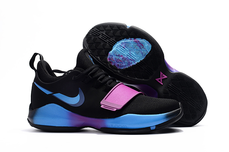 Women Nike Zoom PG 1 Black Blue Purple Shoes