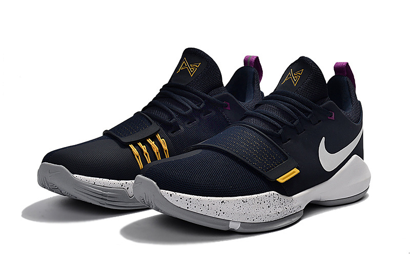 Women Nike Zoom PG 1 Black Yellow Shoes
