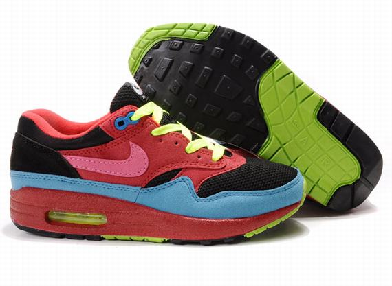 Womens Nike Air Max 87 With Red Blue Black Shoes