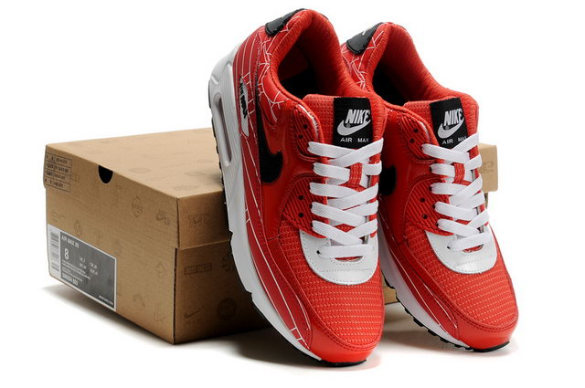Womens Nike Air Max 90 Challenge Red Chllng Red Black
