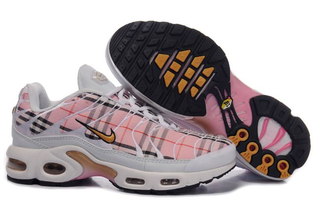 Womens Nike Air Max TN Shoes Pink White Yellow
