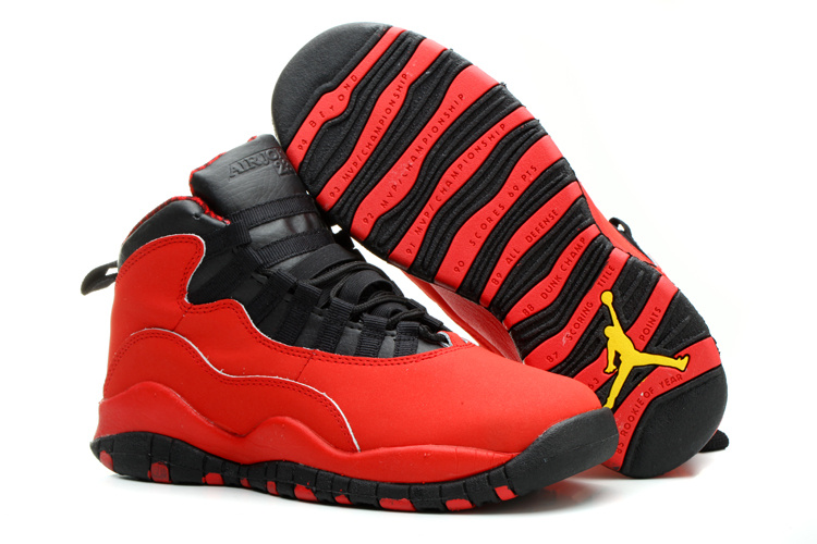 Nike Jordan 10 Red Black Shoes For Women