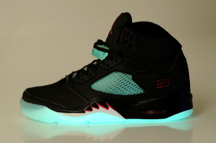 Nike Jordan 5 Midnight Shoes For Women Black Red