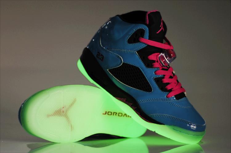 Nike Jordan 5 Midnight Shoes For Women Blue Black Pink