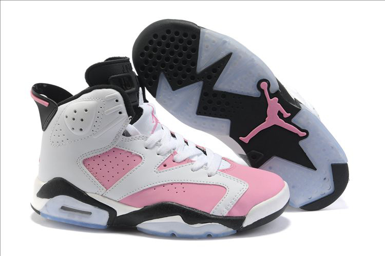 Nike Jordan 6 White Pink Black For Women