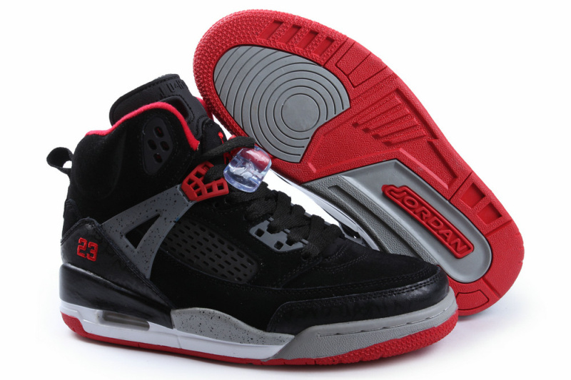 Nike Jordan Spizike Shoes For Women Black Grey Red