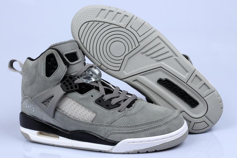 Nike Jordan Spizike Shoes For Women Grey Black White