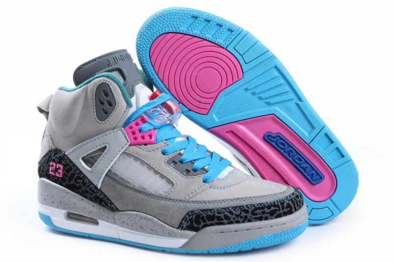 Nike Jordan Spizike Shoes For Women Grey Grey Blue