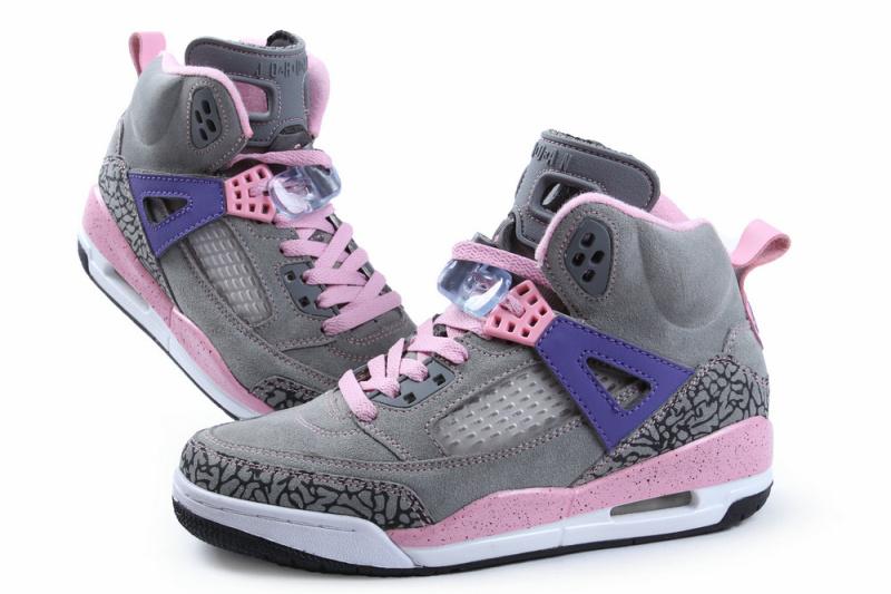 Nike Jordan Spizike Shoes For Women Grey Pink Purple