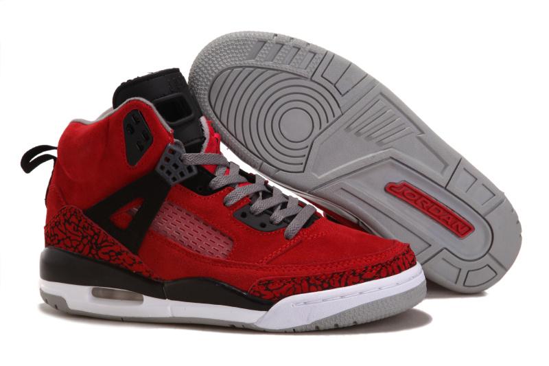 Nike Jordan Spizike Shoes For Women Red Black White