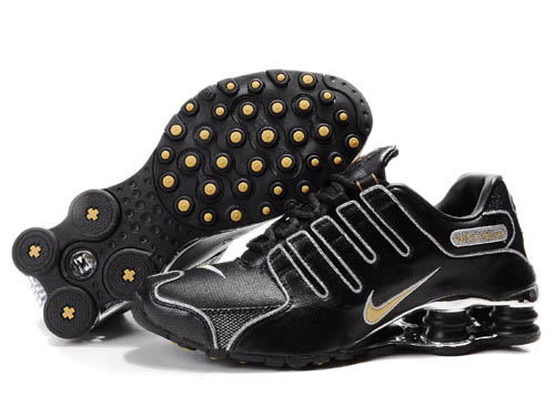 Mens Nike Shox Nz Sl Si Shoes Black Silver Golden