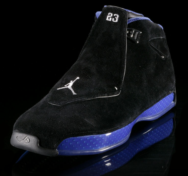 nike air jordan 18 og black royal blue shoes