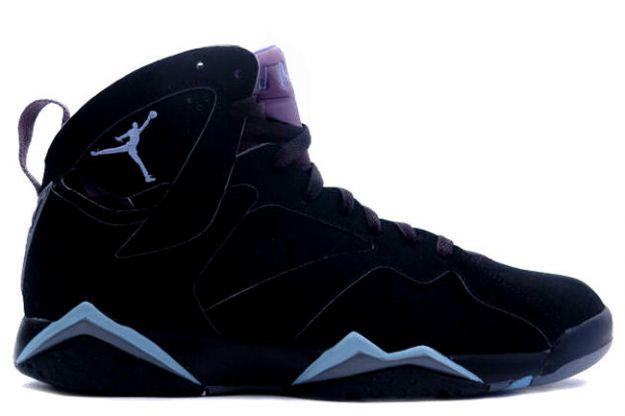 nike air jordan 7 retro black baby blue shoes NAJ047