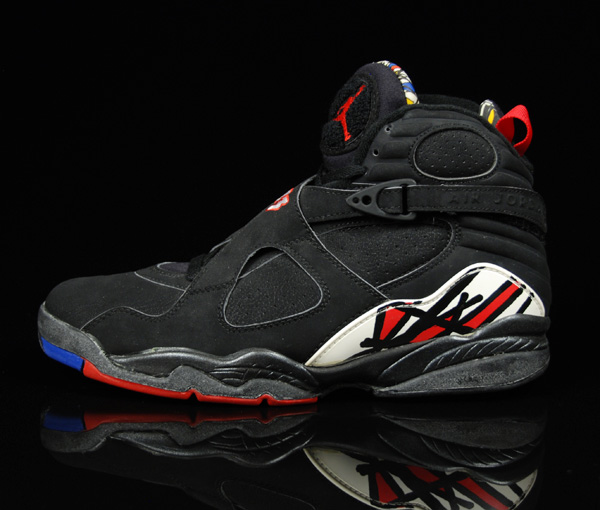 nike air jordan 8 playoffs og comparison edition black true red white shoes