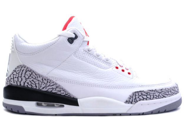 popular nike jordan 3 retro white cement grey fire red black shoes