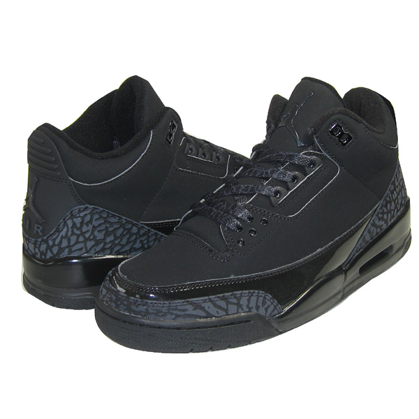 special nike jordan 3 retro black cat black dark charcoal black shoes
